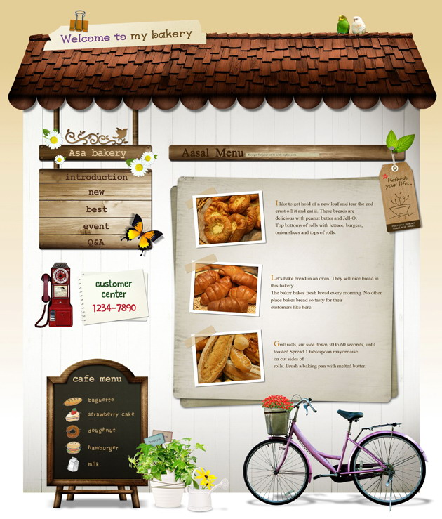 Bakery Menu Design Templates