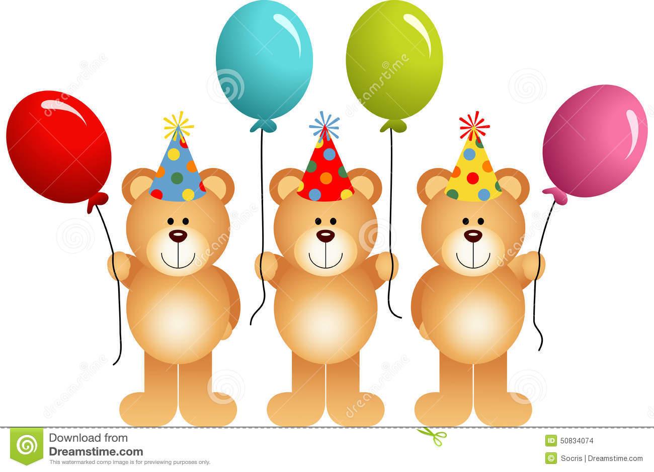 Birthday Balloon with Teddy Bear