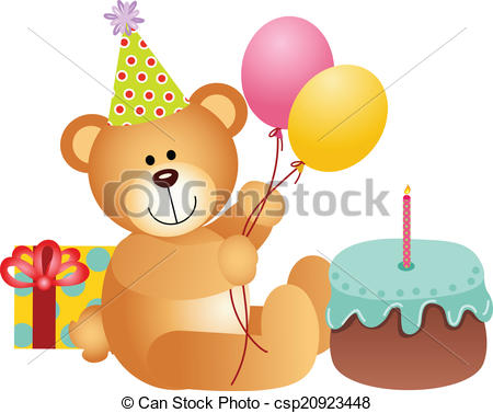 Birthday Teddy Bear Clip Art