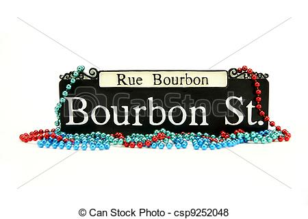 13 Bourbon Street Sign Vector Images