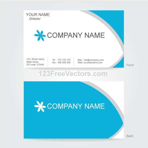 16 vector business card template images free vector business business card vector free download reheart Choice Image