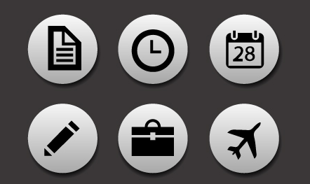 14 Business Icons Back Images