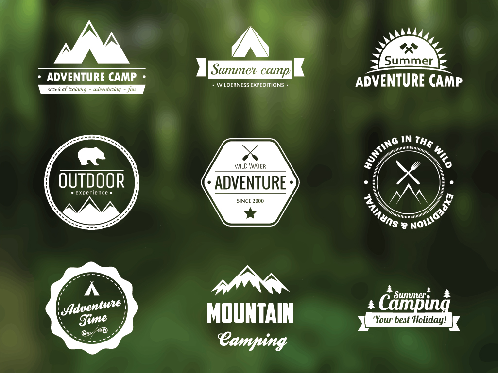 16 Free Camping Vector Badges Images
