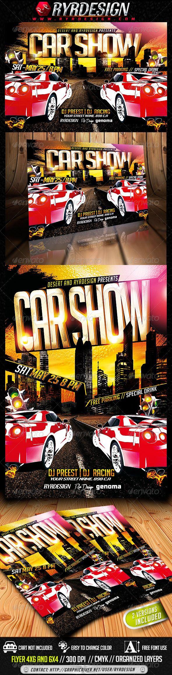 Car Show Flyer Template PSD