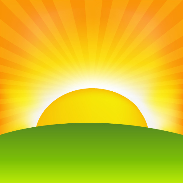 14 Sunrise Background Vector Images