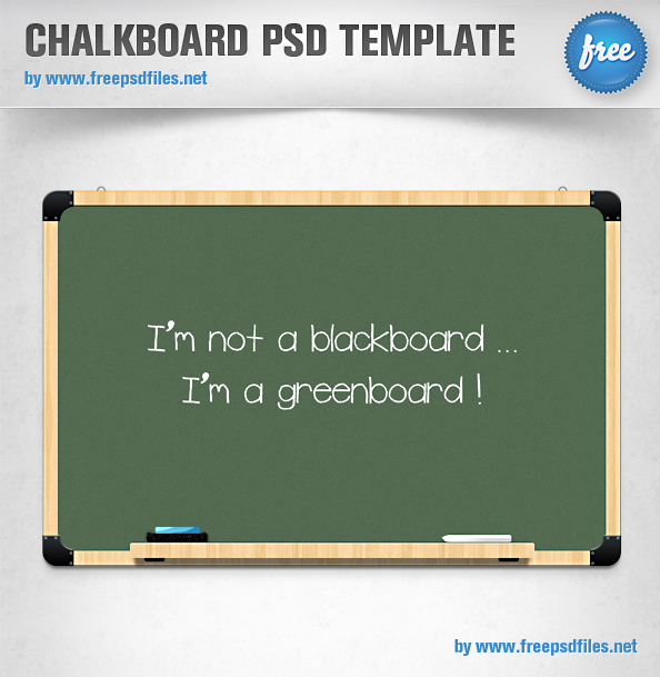 8 Free Chalkboard Template PSD Images
