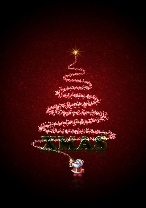 Free Christmas Card Templates Photoshop