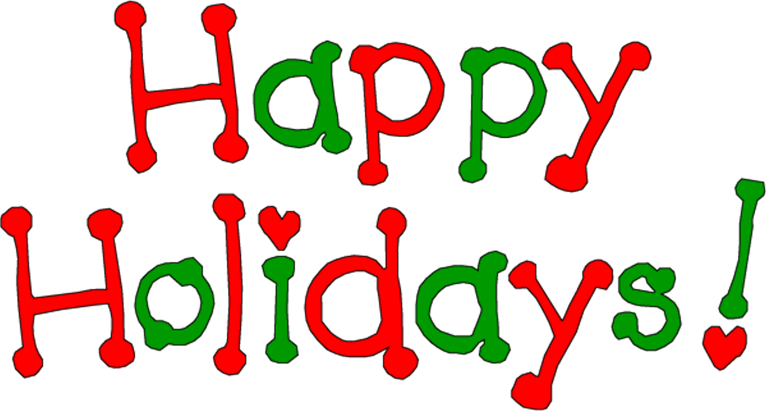 Christmas Happy Holidays Clip Art