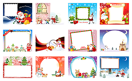 Christmas Photo Frame Templates Free Download