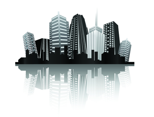 14 Black City Vector Images