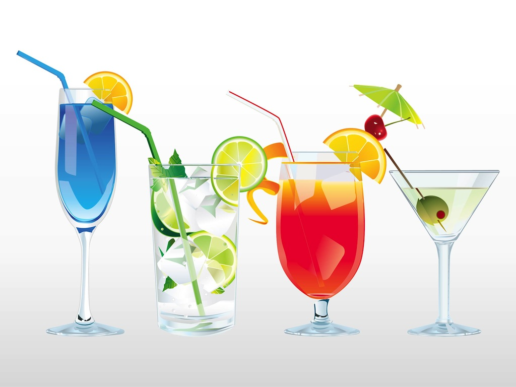 Cocktails and Drinks Clip Art Free