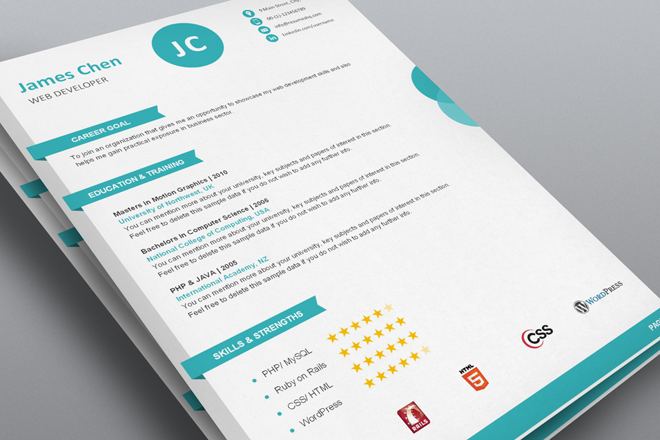 Creative Resume Templates Free Download | Resume Templates and ...