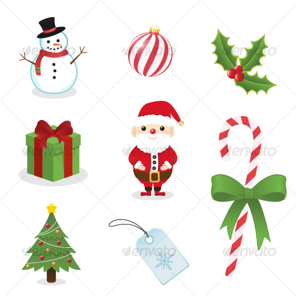 8 Winter Holiday Icons Images