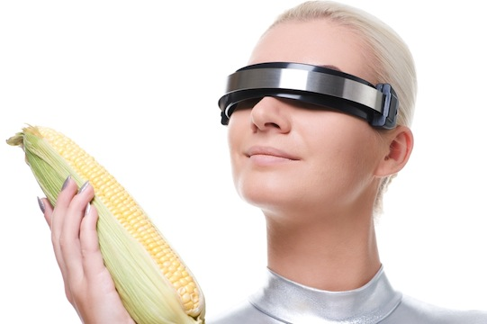 Cyber Woman with Corn