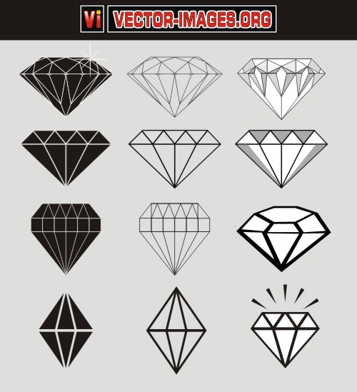 12 Diamond Vector Free Download Images