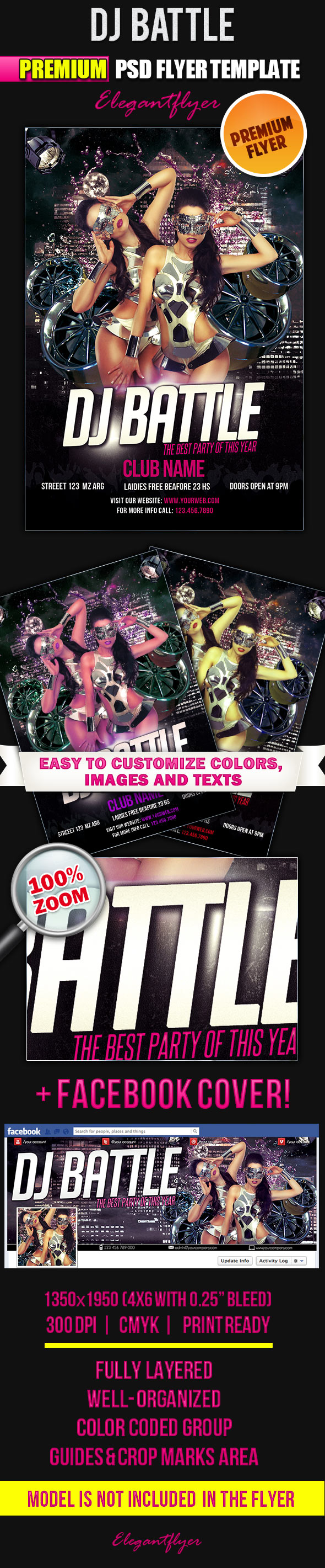 12 Need A DJ Flyer PSD Images
