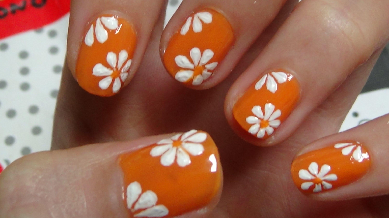 Easy Flower Nail Art Designs