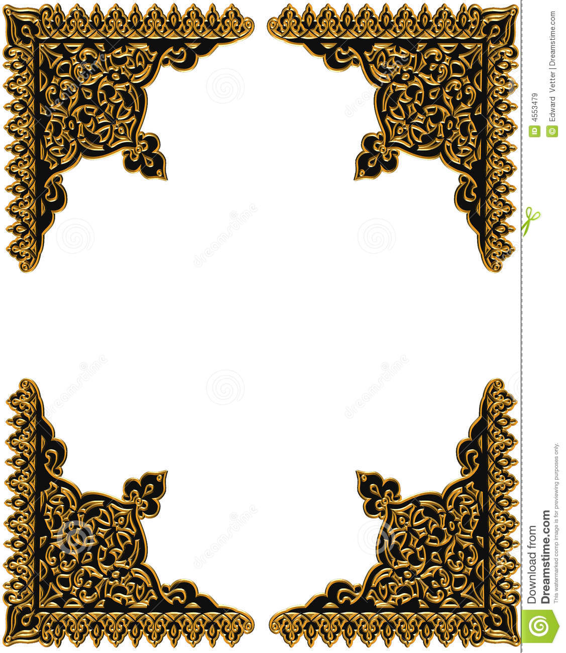 12 Silver And Gold Scrapbook Design Images - Black and Gold