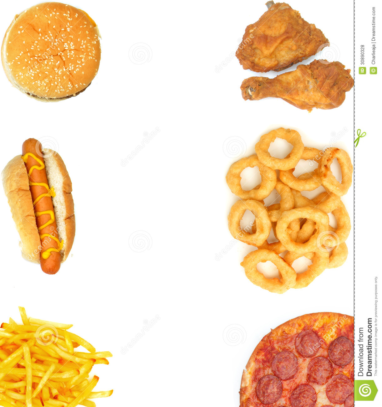 Fast Food Menu Borders