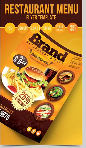 Food Product Flyer Template