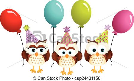 Free Birthday Owl Clip Art