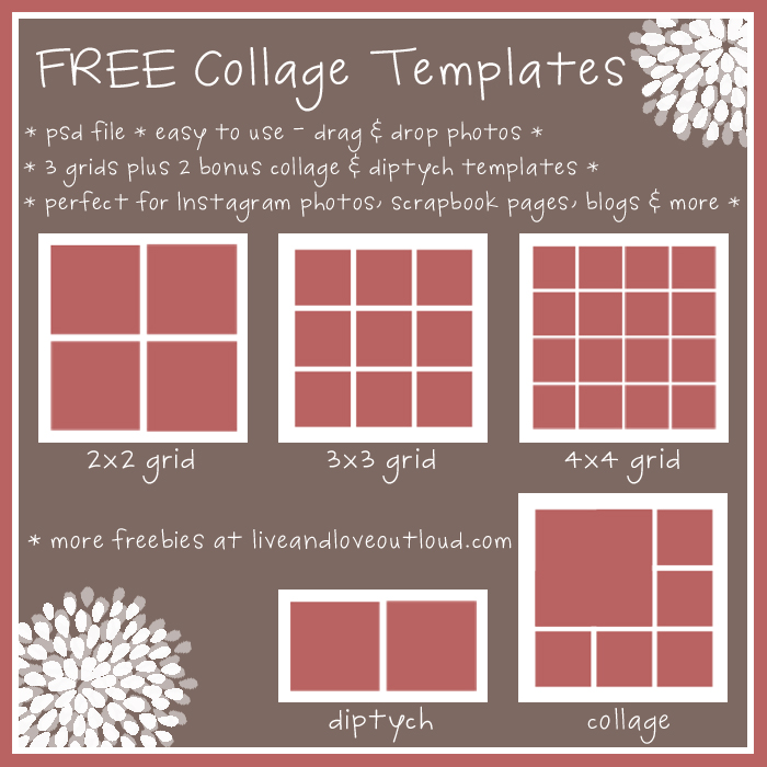 13 Photoshop Collage Templates Free Download Images