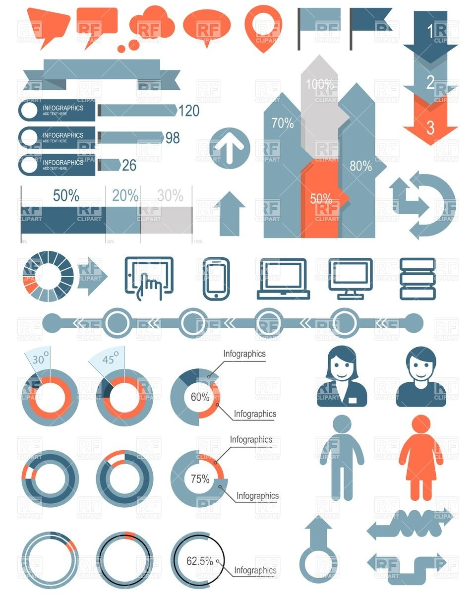 19 Infographic People Icons Clip Art Images
