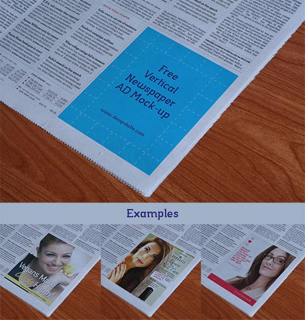 Free Mockup of Newspaper Ads