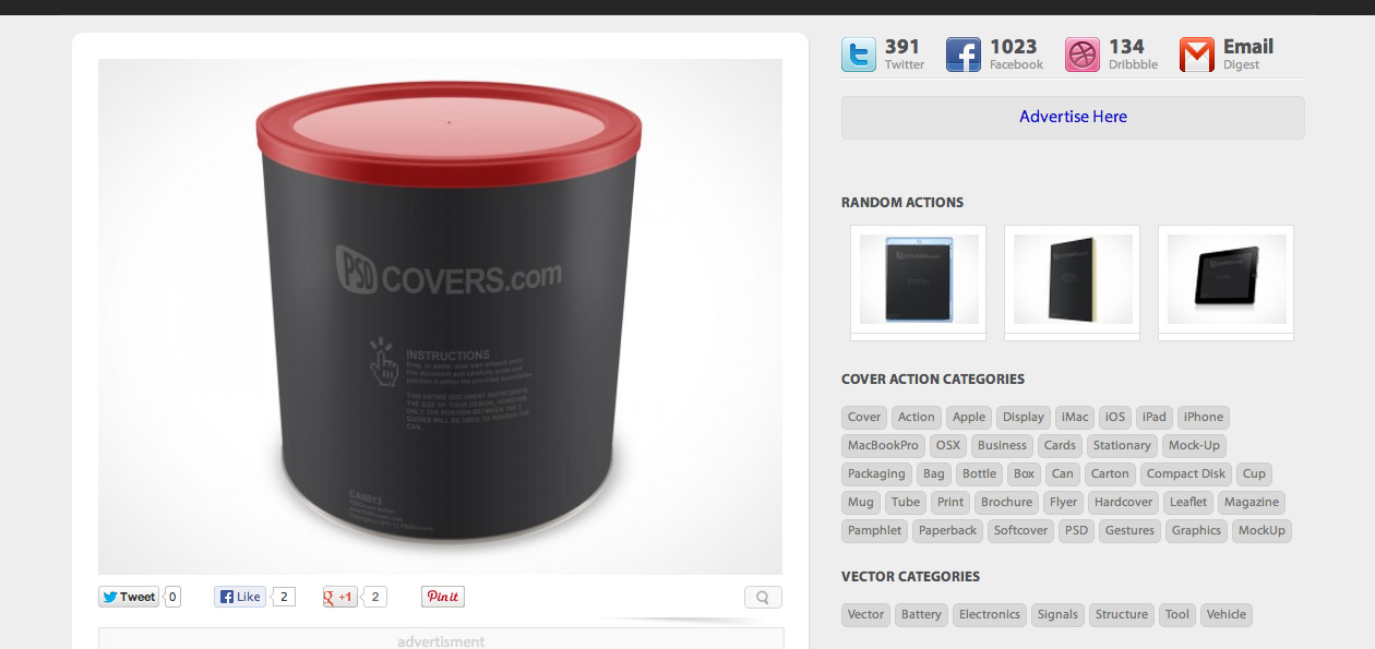 Free Psd Mock Up Canister