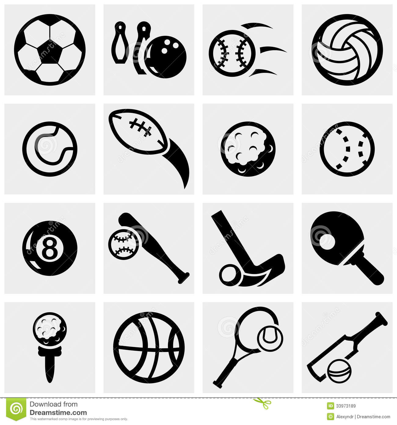 Free Sport Vector Icon Sets
