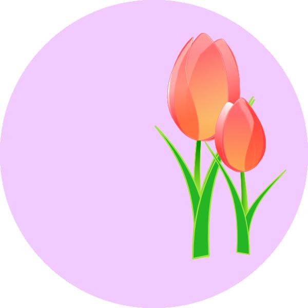 Free Tulip Border Clip Art