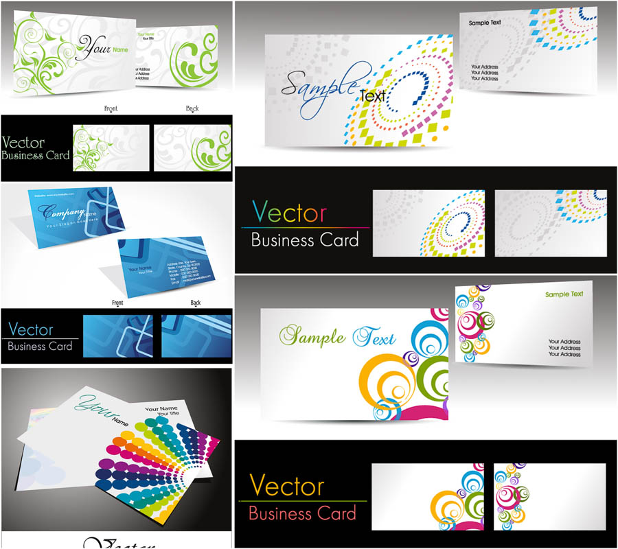 16 vector business card template images free vector for Free business card design templates