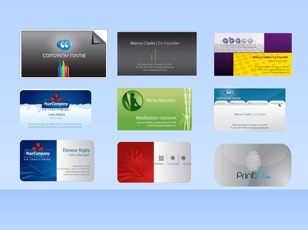 16 vector business card template images free vector business free vector business card templates reheart Gallery