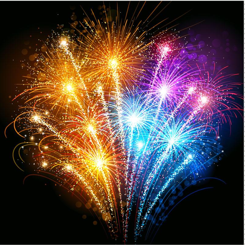 16 Fireworks Vector 3D Images