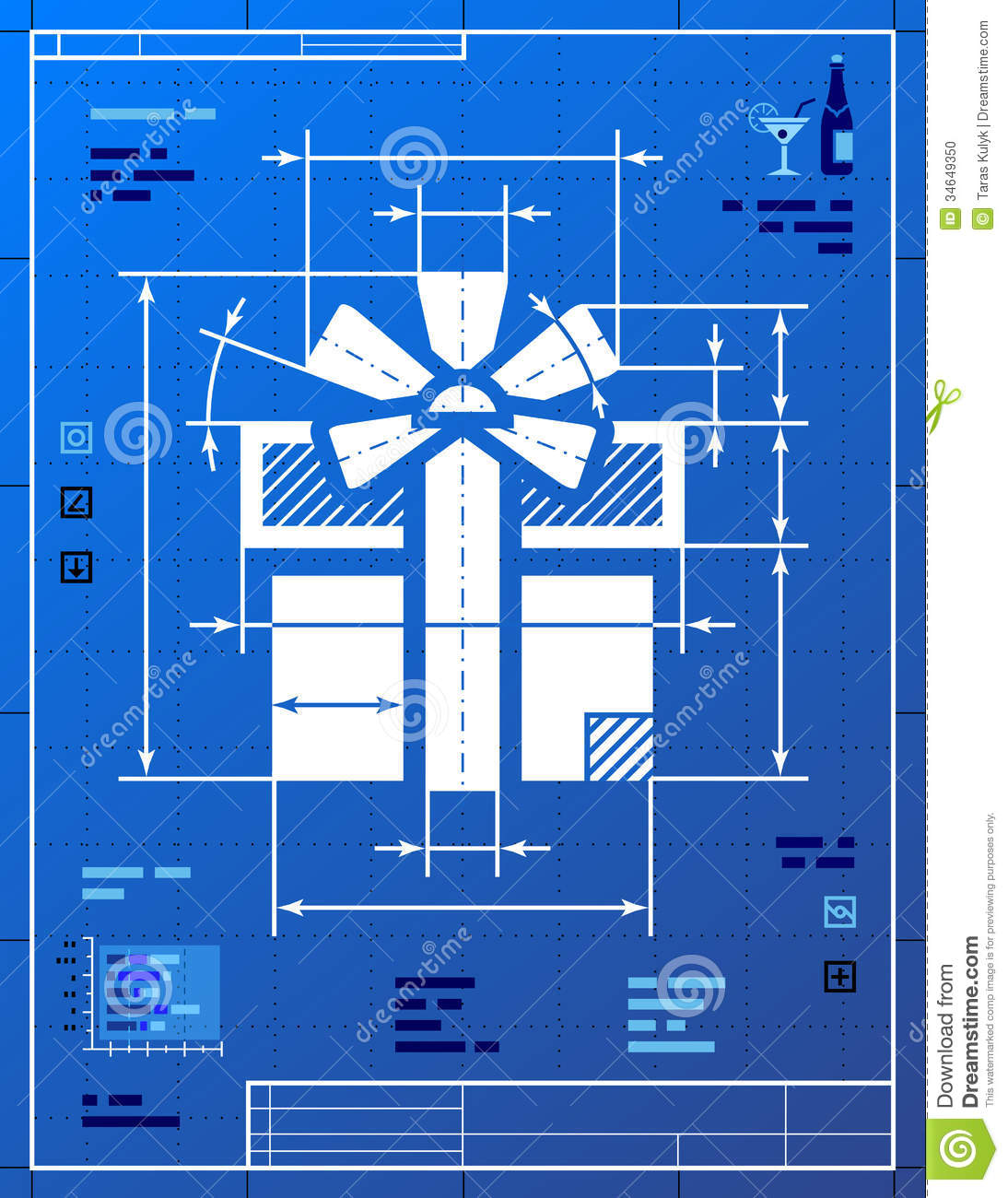 Gift Wrapping Paper Blueprint