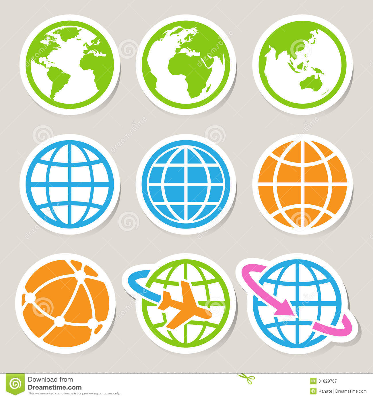 Google Earth Icon Set