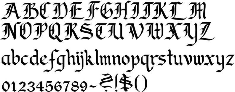 Gothic Old English Calligraphy Font