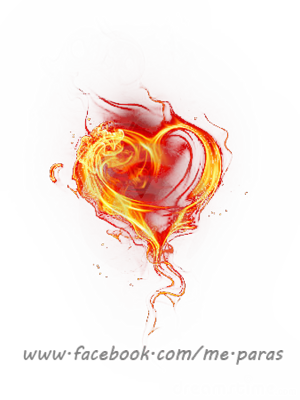 14 Heart In Flames PSD Images