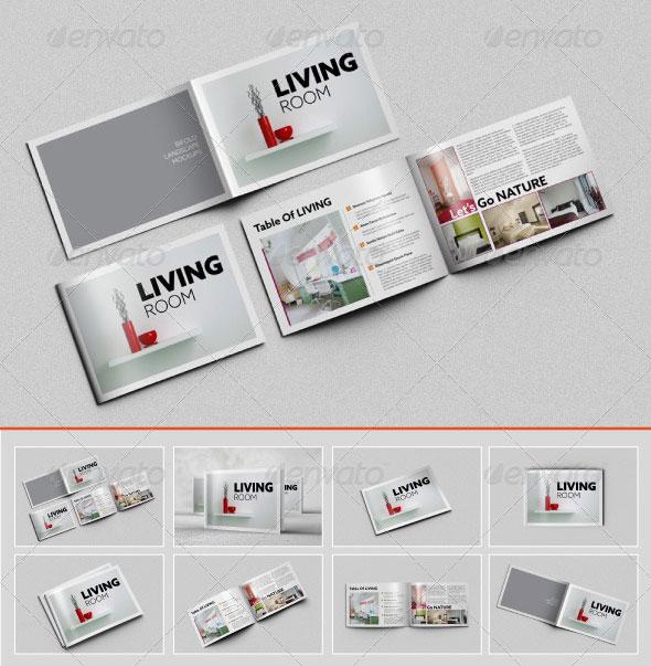 Horizontal Brochure Mockup Free