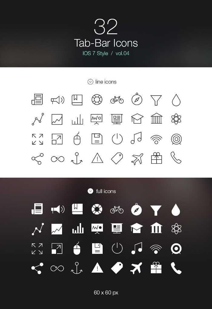 11 IOS Tab Bar Icons Images