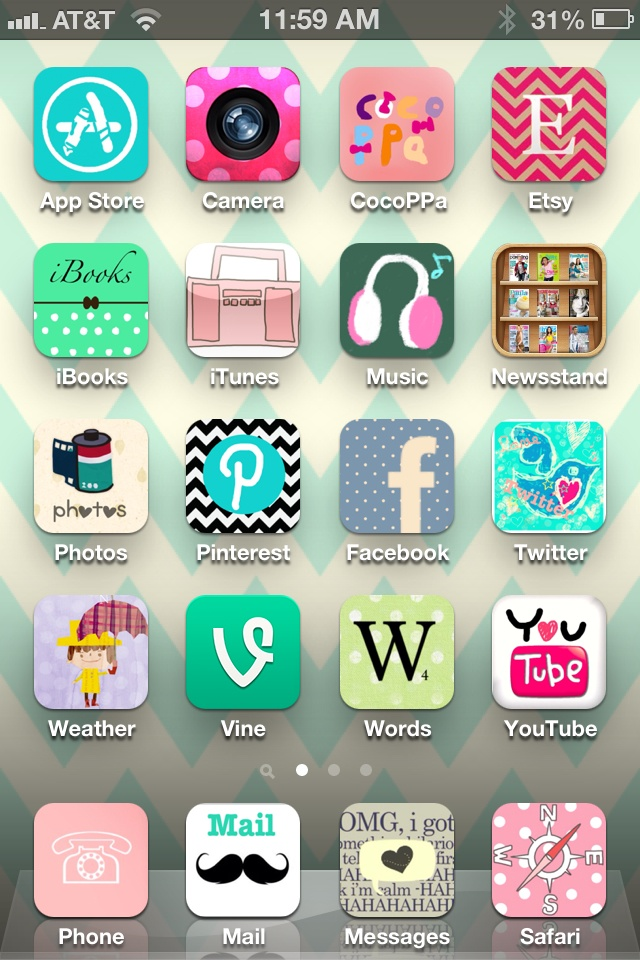 iPhone App Icons Home Screen