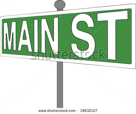 Main Street Sign Clip Art