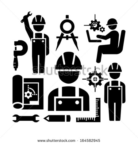 10 Engineering Icons Vector Images