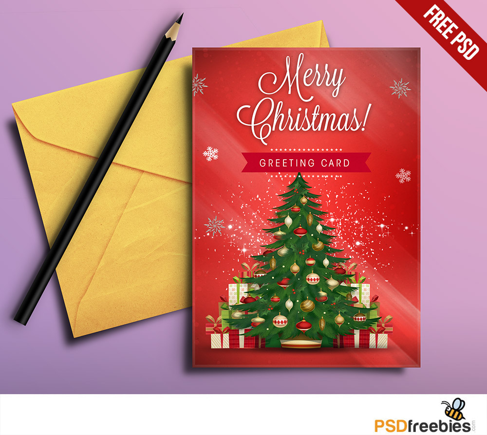 11 Christmas Greeting Card Psd Images Free Christmas Greeting