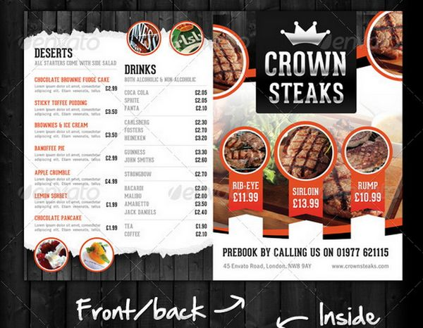 13 Food Menu PSD Images