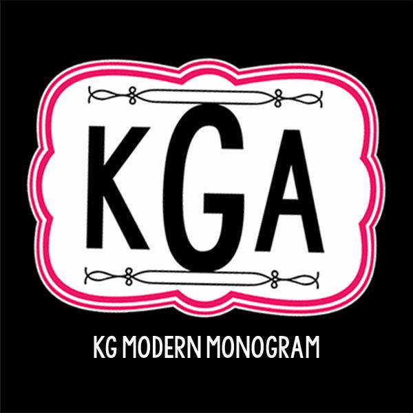 11 Modern Monogram Fonts Images
