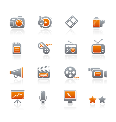 12 Multimedia Vector Icons Images