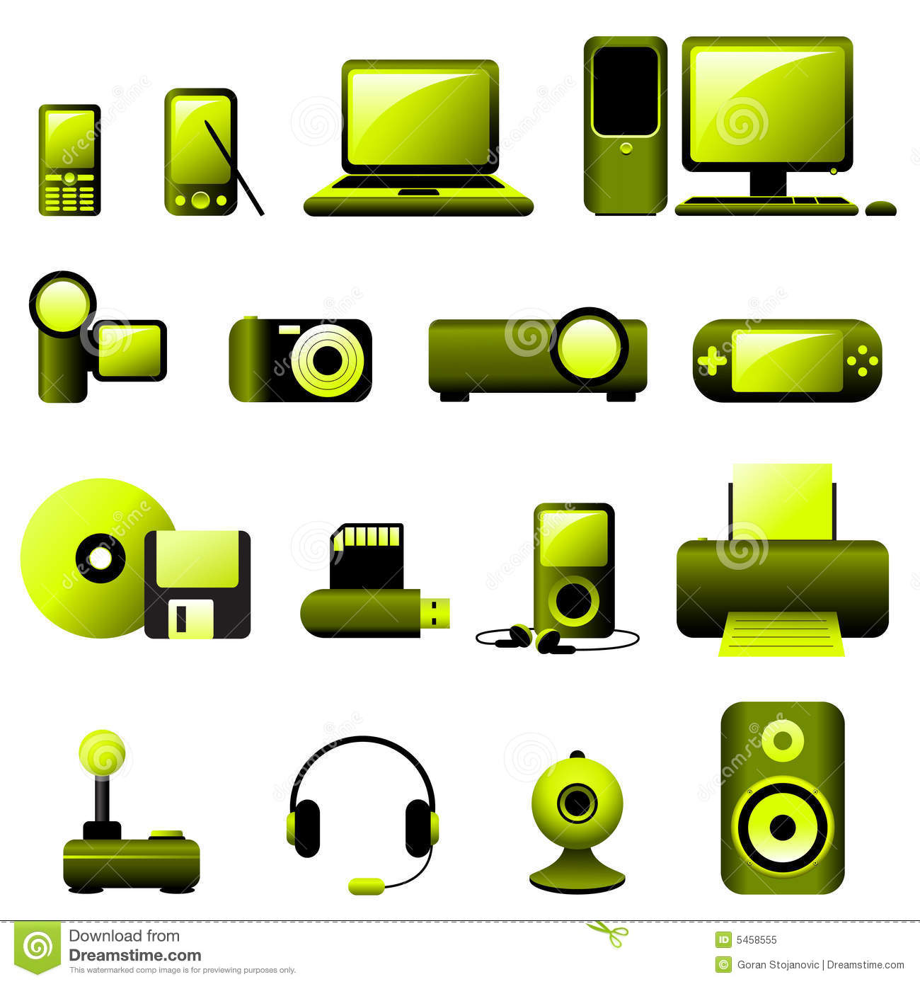 Multimedia Icons Vector Free