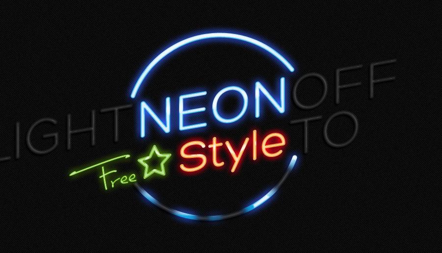 Neon Light Effect Photoshop