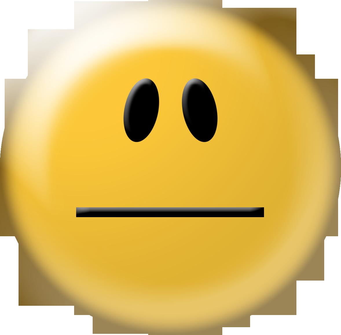 Neutral Smiley-Face Emoticon